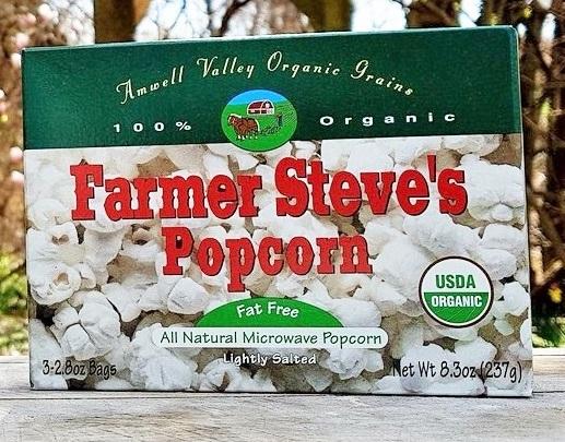 Farmer Steve's Microwave Popcorn Box